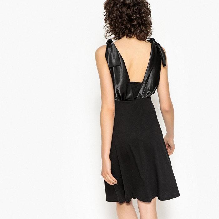 Robe Longue Nouee Epaule Noir La Redoute Collections La Redoute