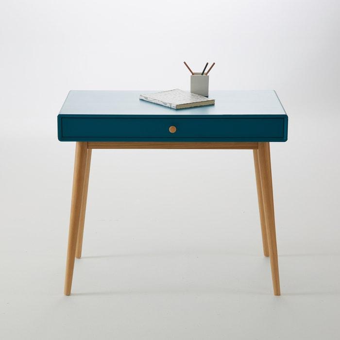 bureau 1 tiroir jimi bleu canard la redoute interieurs la redoute. Black Bedroom Furniture Sets. Home Design Ideas