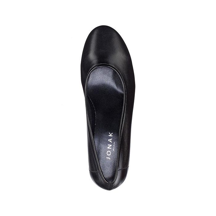 Escarpins cuir talon glitter noir Jonak