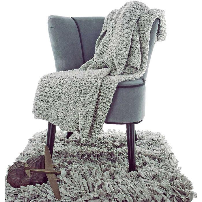 plaid coton 130x170 buddy gris perle home maison la redoute. Black Bedroom Furniture Sets. Home Design Ideas