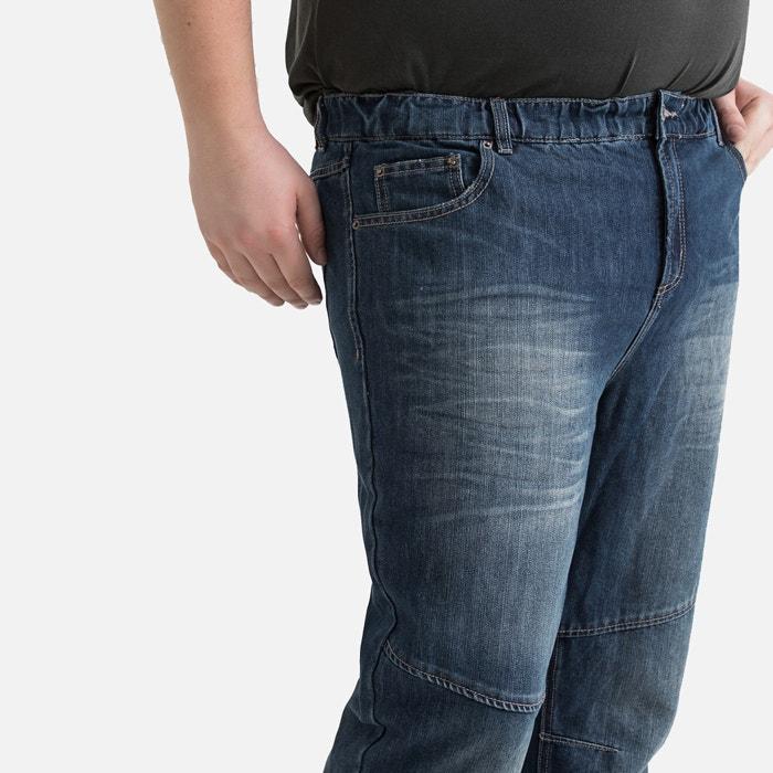 3b6611d6e148 Jeans elasticizzati taglio straight 5 tasche grezzo dirty La Redoute  Collections Plus   La Redoute
