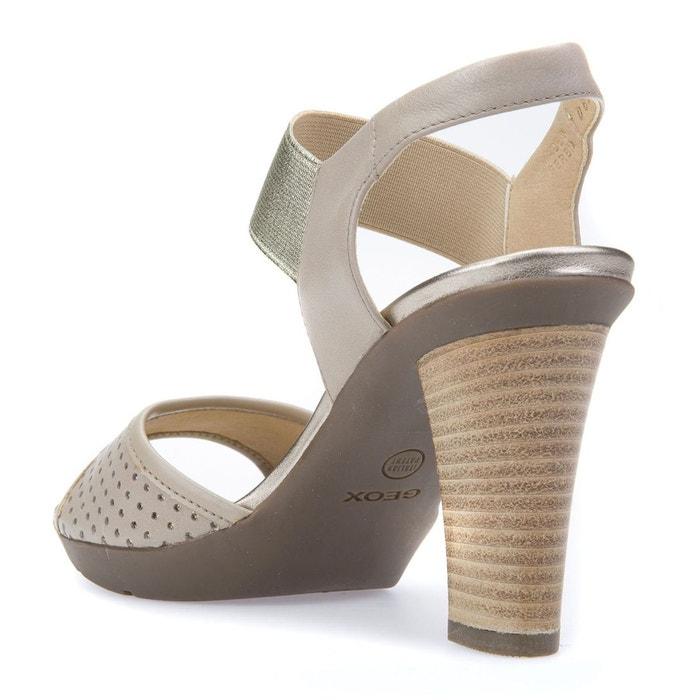 Sandales cuir à talons d jadalis c sable Geox