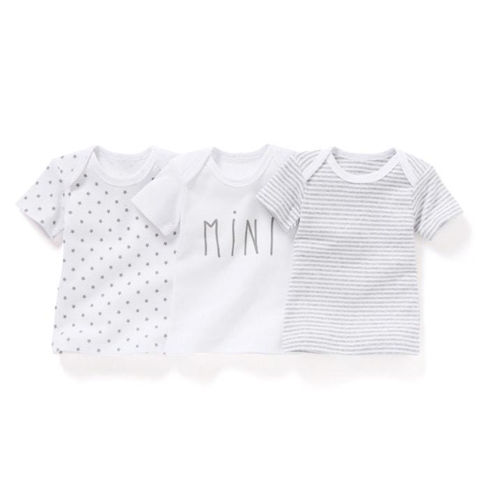 Imagen de Camiseta de algodón orgánico  0 meses - 3 años (lote de 3) R essentiel
