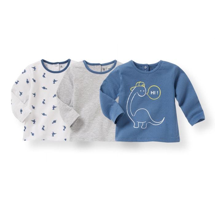 Camisola de mangas compridas, 1 mês-3 anos (lote de 3) R édition
