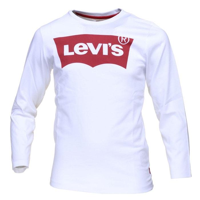 tout neuf d811f 2322d Tee-shirt manches longues col rond en coton floqué du logo