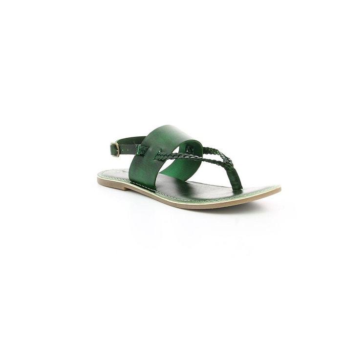 Sandales cuir femme divoui vert Kickers