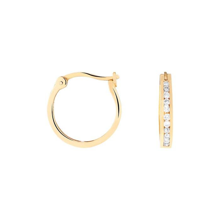Boucles d'oreilles or 750/1000 diamant blanc Cleor | La Redoute Jeu 2018 Unisexe À La Recherche De Sites En Ligne Vente Boutique Vente Pas Cher De La France ZVy8Q