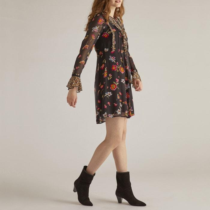 Vestido patinadora con estampado de flores 471358887599