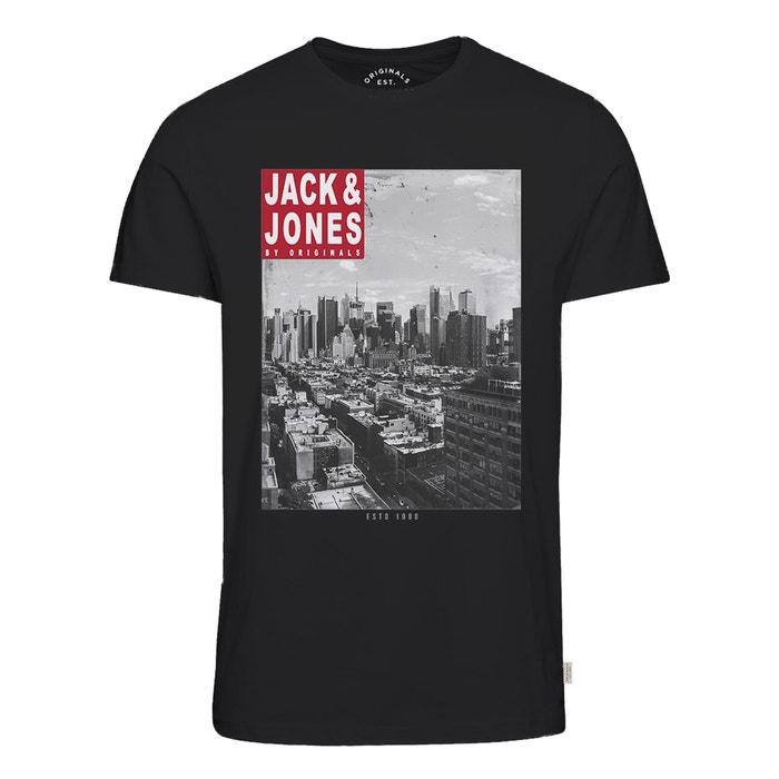 Image T-shirt scollo rotondo motivo davanti JACK & JONES