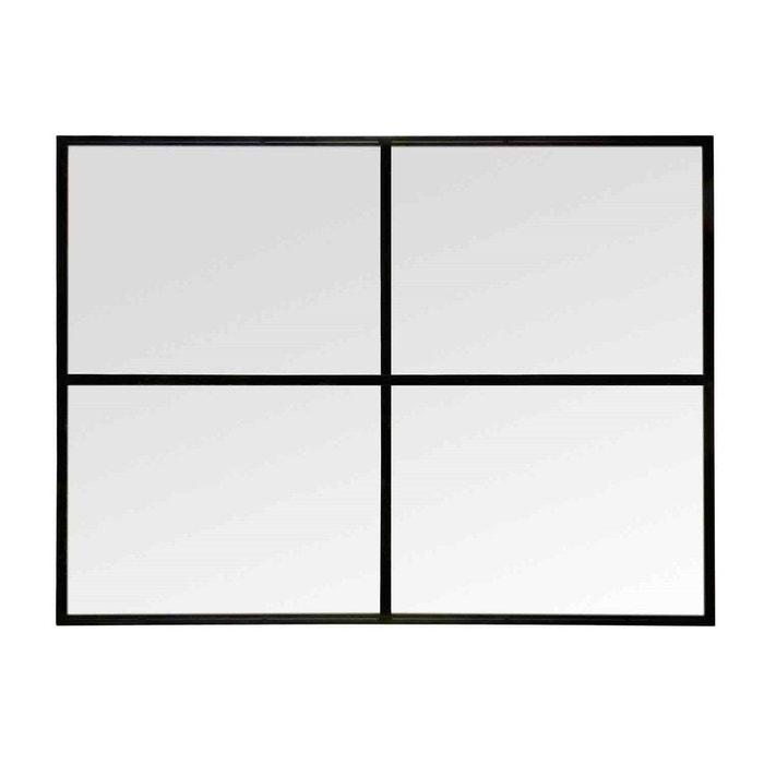 Miroir fen tre noir 90x120 noir emde premium la redoute for Miroir 90x120
