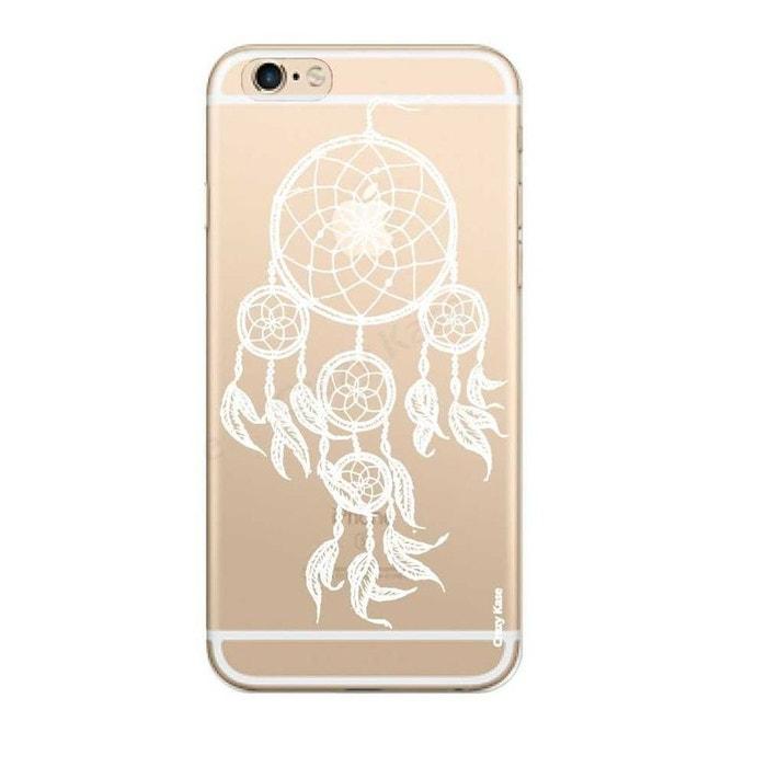 Coque pour iPhone 6 / 6s Transparente souple motif Attrape Rêves Blanc