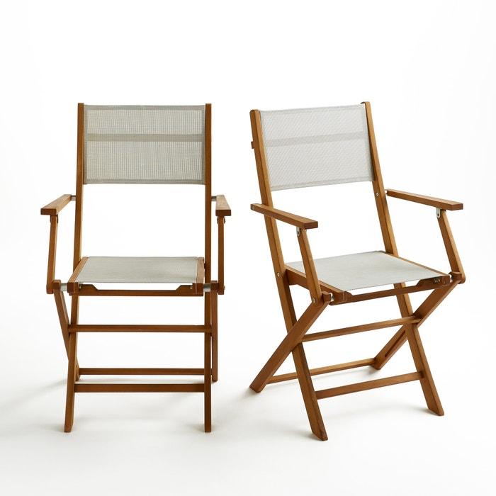Set of 2 Exodor Folding Garden Chairs  La Redoute Interieurs image 0