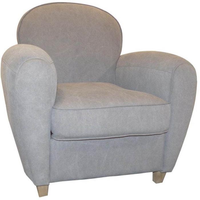 fauteuil club vintage grand classique gris jardindeco la redoute. Black Bedroom Furniture Sets. Home Design Ideas
