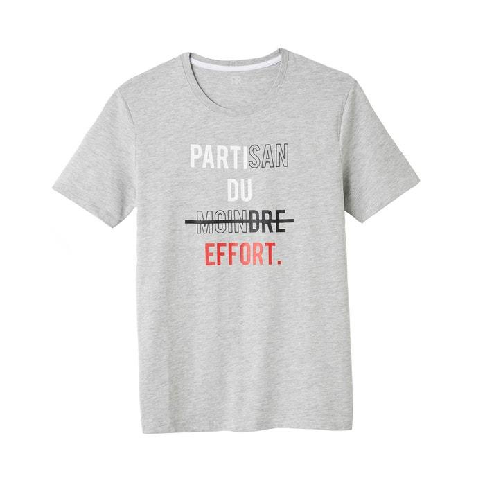 Bedrukt T-shirt met ronde hals Slub  La Redoute Collections image 0