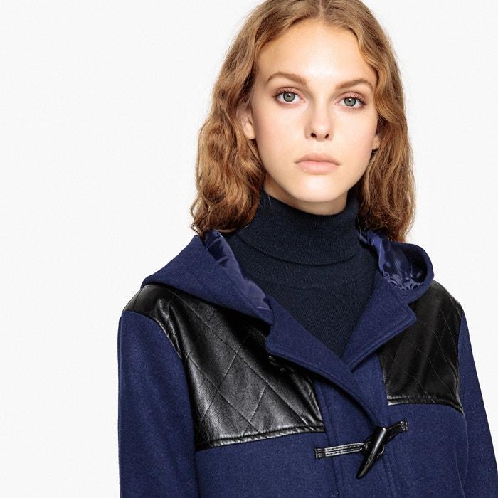 Trenca austríaca de mezcla de lana y detalles estilo quilt azul oscuro La  Redoute Collections  8f29f0562910