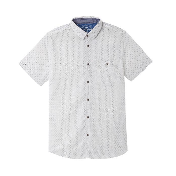 TOM Camisa recta corta estampada TAILOR manga YZY5qHw