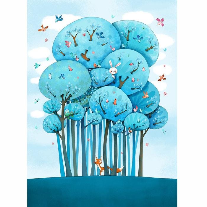 papier peint enfant dans les arbres multicolore acte deco la redoute. Black Bedroom Furniture Sets. Home Design Ideas