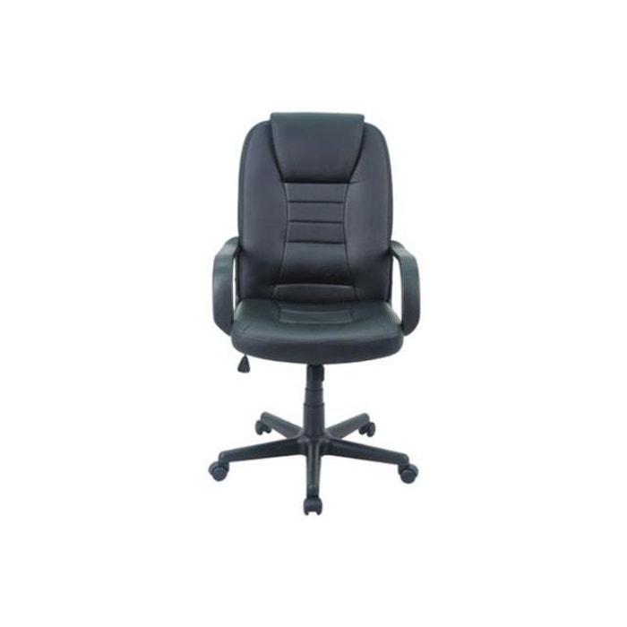 Chaise de bureau noir mara couleur unique demeyere la redoute - Chaise de bureau la redoute ...