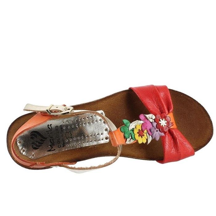 d23a6ac307005 Sandales   nu-pieds cuir multicolore Marila   La Redoute