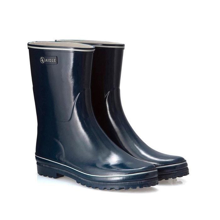 Boots de pluie venise botillon marine/blanc Aigle