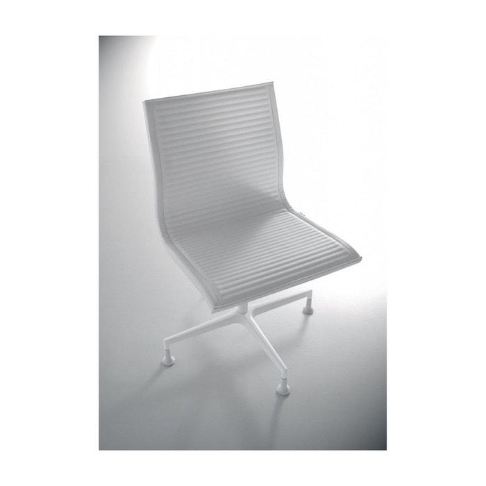 Howie chaise design de bureau en cuir blanc seanroyale la redoute - Chaise de bureau la redoute ...