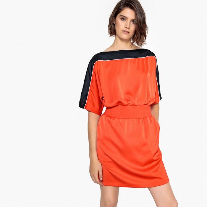 Vestido estilo desportivo, acetinado  La Redoute Collections image 0