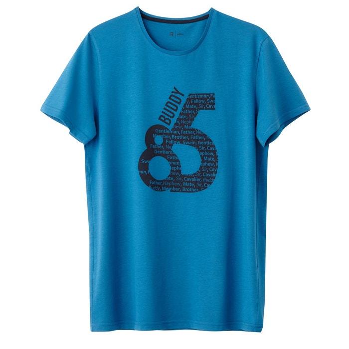 T-shirt col rond imprimé 100% coton R Edition