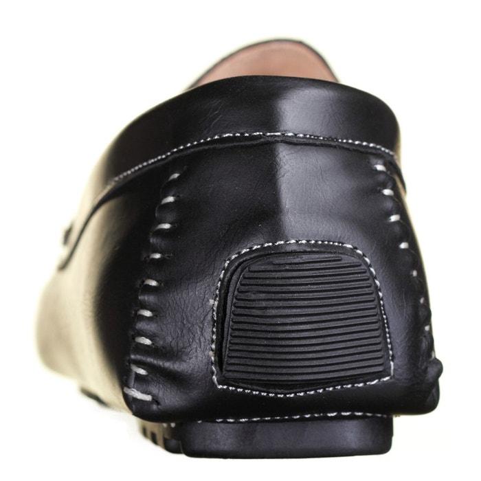 Chaussure derbie simples à enfiler noir Reservoir Shoes