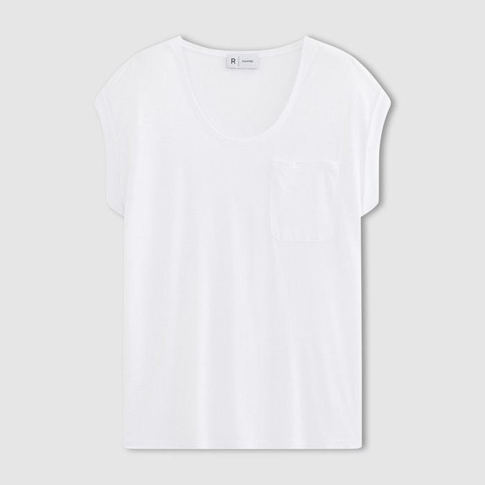 Image T-shirt col rond, viscose fluide La Redoute Collections