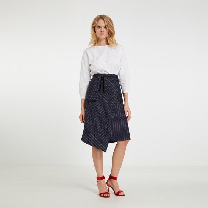 Effen rechte blouse met ronde hals en 3/4 mouwen  MORGAN image 0