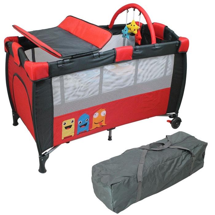 lit parapluie b b 60 cm x 120 cm matelas et accessoires rouge rouge monsieur bebe la redoute. Black Bedroom Furniture Sets. Home Design Ideas