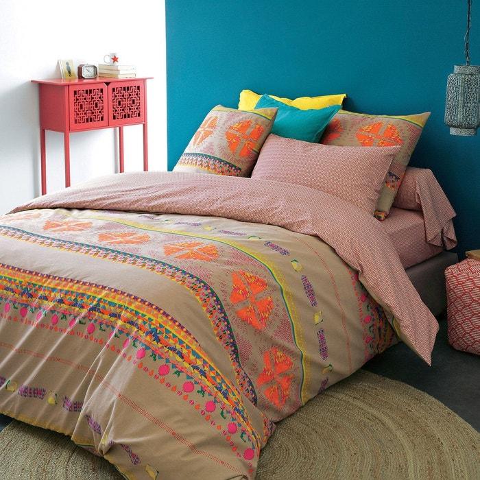 housse de couette macchu pichu imprim beige la redoute. Black Bedroom Furniture Sets. Home Design Ideas