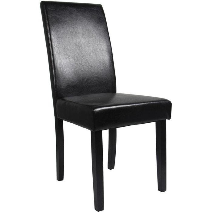 Chaises en simili cuir romy lot de 2 noir zago la redoute - Chaises la redoute soldes ...