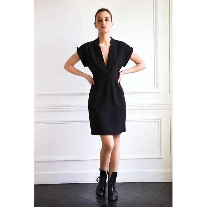 robe paloma avec decoupes en v noir les petites la redoute. Black Bedroom Furniture Sets. Home Design Ideas
