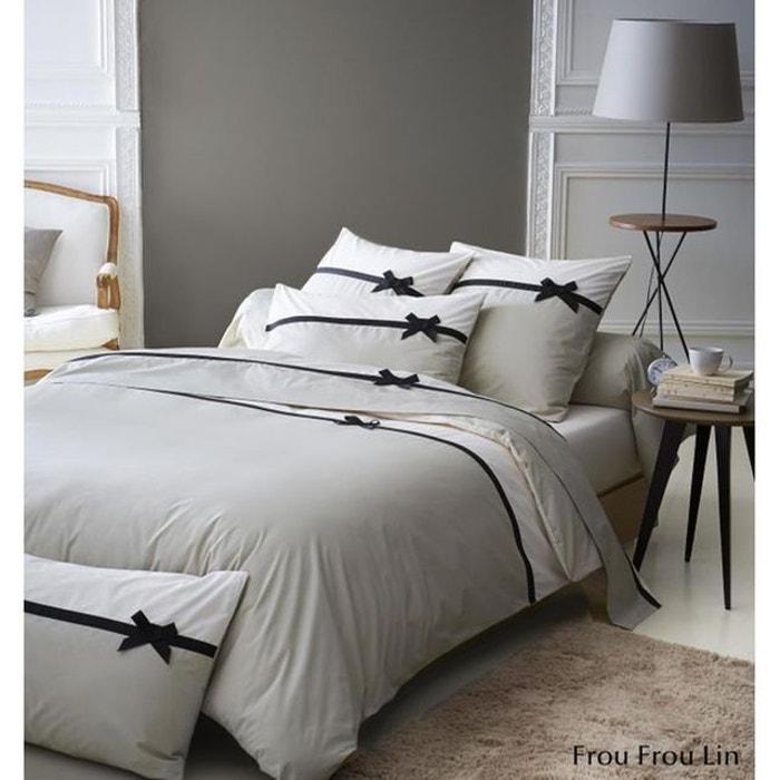 housse de couette frou frou lin noeud lin tradilinge la. Black Bedroom Furniture Sets. Home Design Ideas