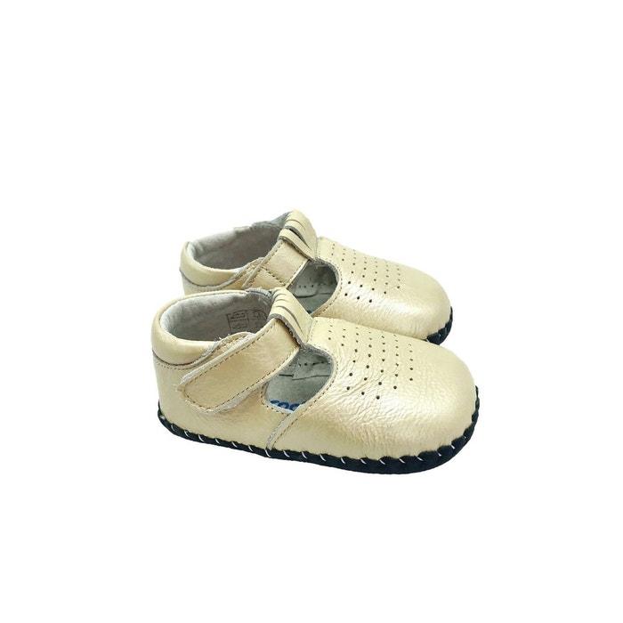 b2a189544a959 Chaussures premiers pas cuir souple sandales fermées beau gosse ceremonie  blanc Freycoo