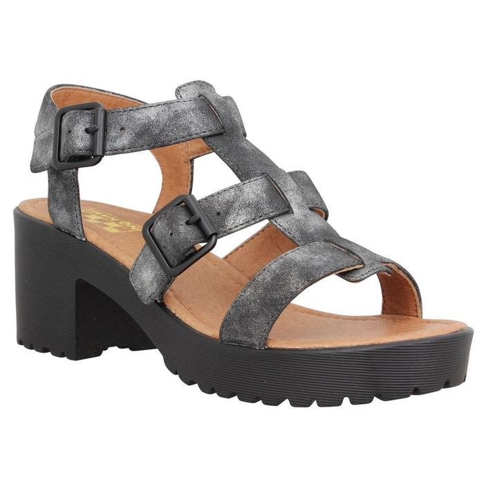 Sandale a talon no name tango sandal glow noir femme noir No Name