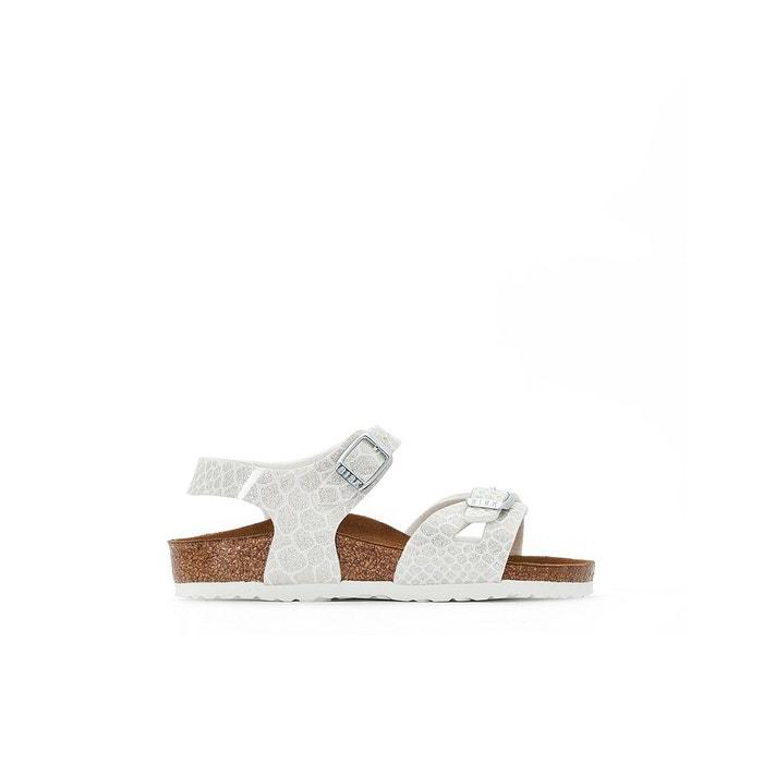 Sandales plates rio 24-38 blanc Birkenstock   La Redoute 0c273e2b3265