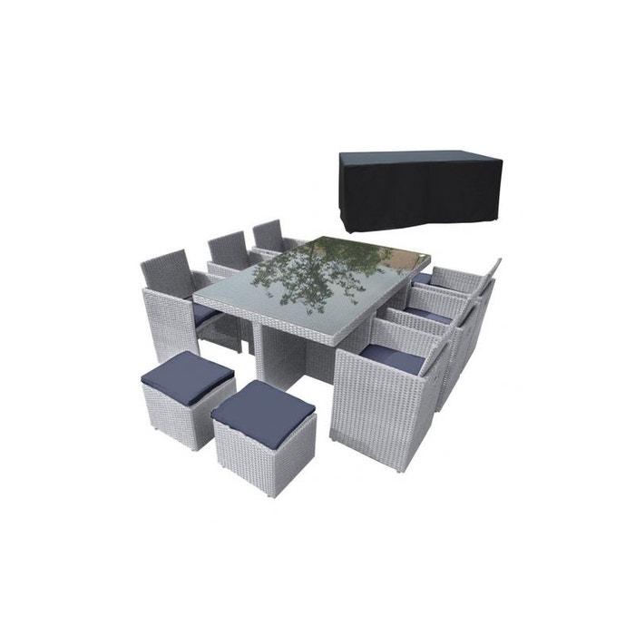 Salon de jardin encastrable + housse gris Dcb Garden   La Redoute
