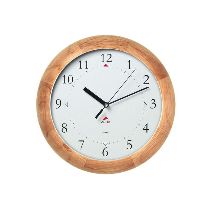 alba horwoody horloge bombee bois woody clock marron alba la redoute. Black Bedroom Furniture Sets. Home Design Ideas