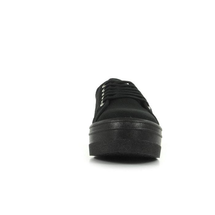 Baskets lona plataforma noir Victoria