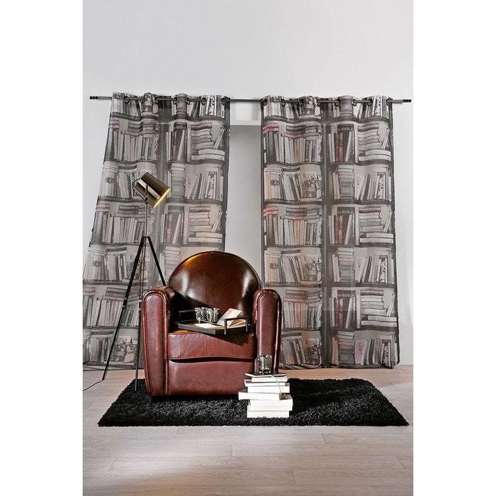 rideau en trompe l 39 oeil biblioth que gris home maison la redoute. Black Bedroom Furniture Sets. Home Design Ideas