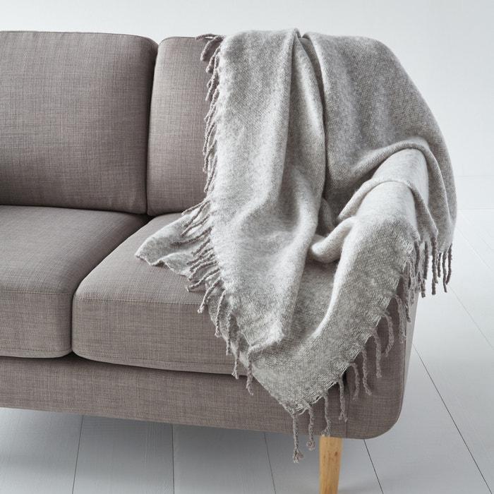 plaid in m leetricot flevo m leegrijs la redoute interieurs la redoute. Black Bedroom Furniture Sets. Home Design Ideas