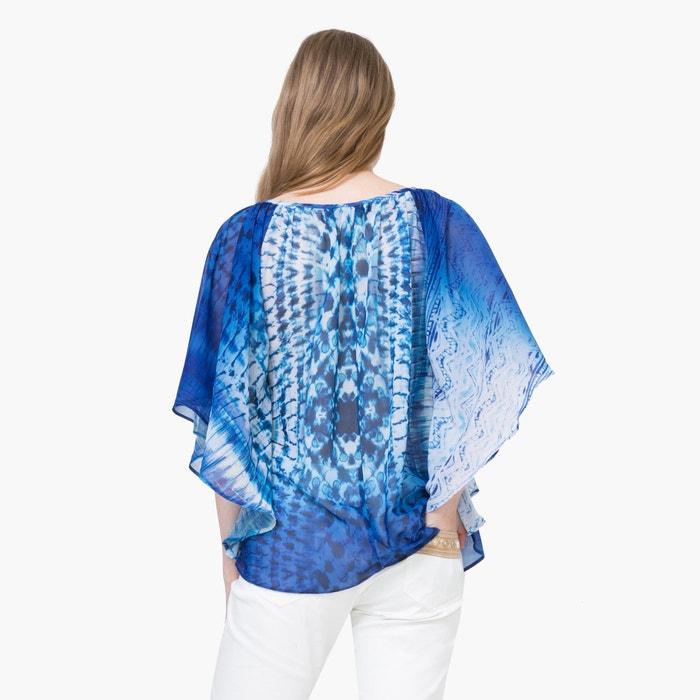 afbeelding Bedrukte soepele blouse met 3/4 mouwen DESIGUAL