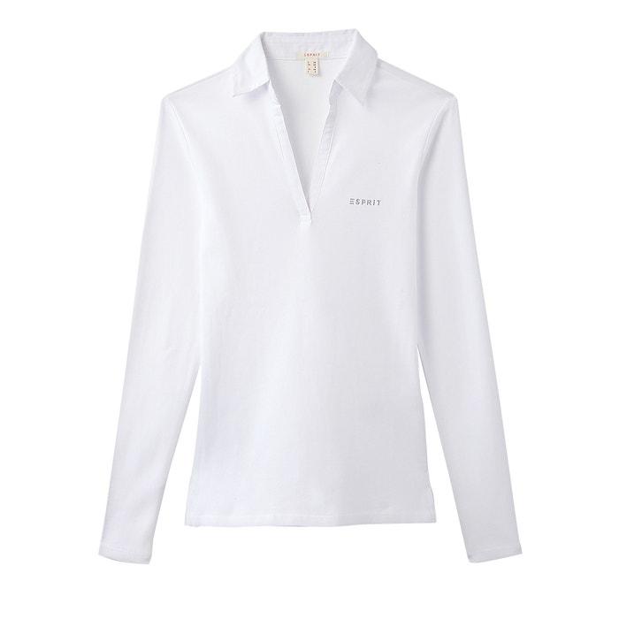 T-shirt col polo, manches longues, pur coton  ESPRIT image 0