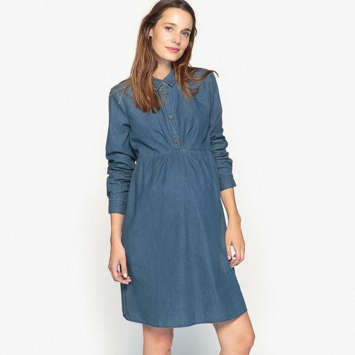 Robe de grossesse en denim La Redoute Collections
