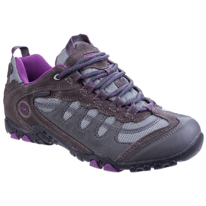 Hi  tec penrith low wp chaussures basses de randonnée gris foncé/violet Hi-Tec