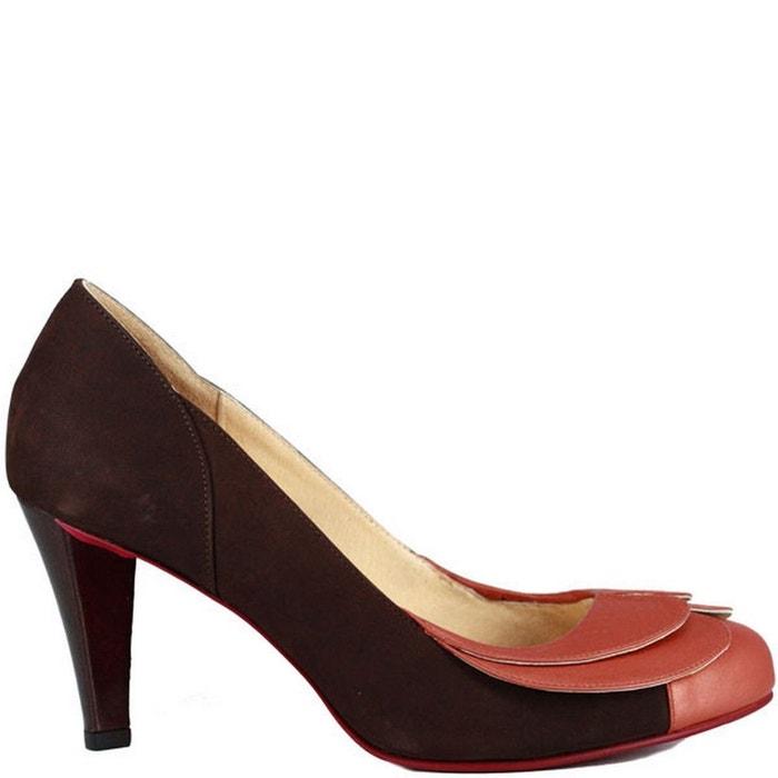 2c98152a42e5d4 Chaussures femme en cuir caramel grey Pring Paris | La Redoute