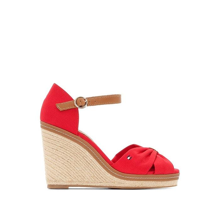Sandales à talon compensé elena Tommy Hilfiger   La Redoute f8be12a4810e