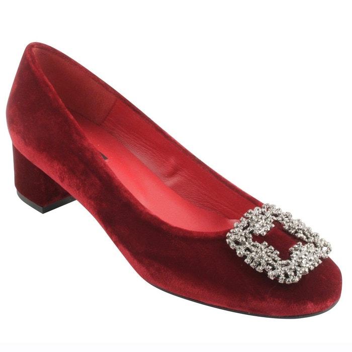 Chaussures à talons lila rouge Exclusif Paris